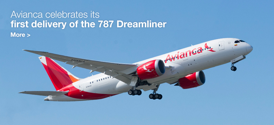 Avianca celebrates its first delivery of the 787 Dreamliner